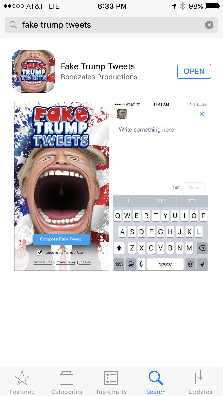 Post us your funniest Fake Trump Tweets from the mobile