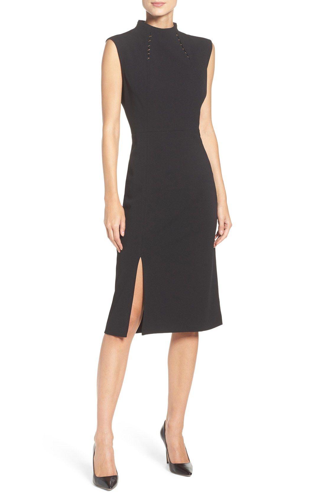 Ivanka Trump Crepe Midi Dress Nordstrom Dresses Clothes Design Cocktail Dress Classy [ 1687 x 1100 Pixel ]