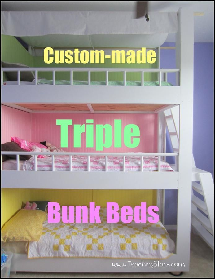Bunk Beds For Three Kids Clever Chicks Blog Hop 49  Triple Bunk Beds Pinterest Diy And