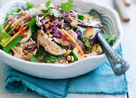 Australian Gourmet Traveller recipe for Aunty Three's Saigon chicken and cabbage salad with quail eggs from Grasshopper Asian Kitchen in Brisbane