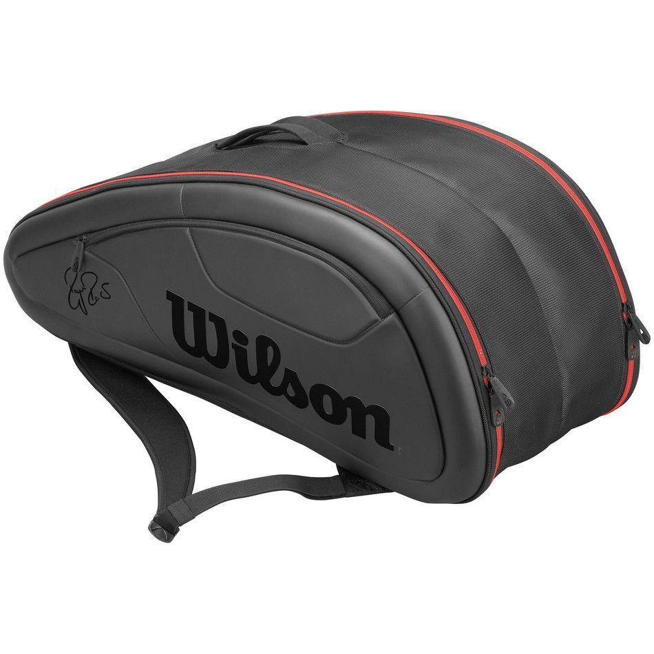 Wilson Federer Dna 12 Pack Racket Bag Black Bags Tennis Bag Bags Designer