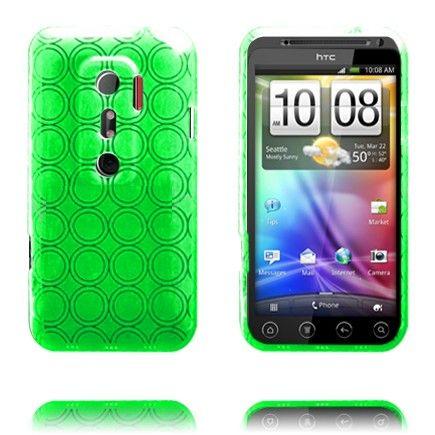 Amazona (Vihreä) HTC Evo 3D Silikonisuojus
