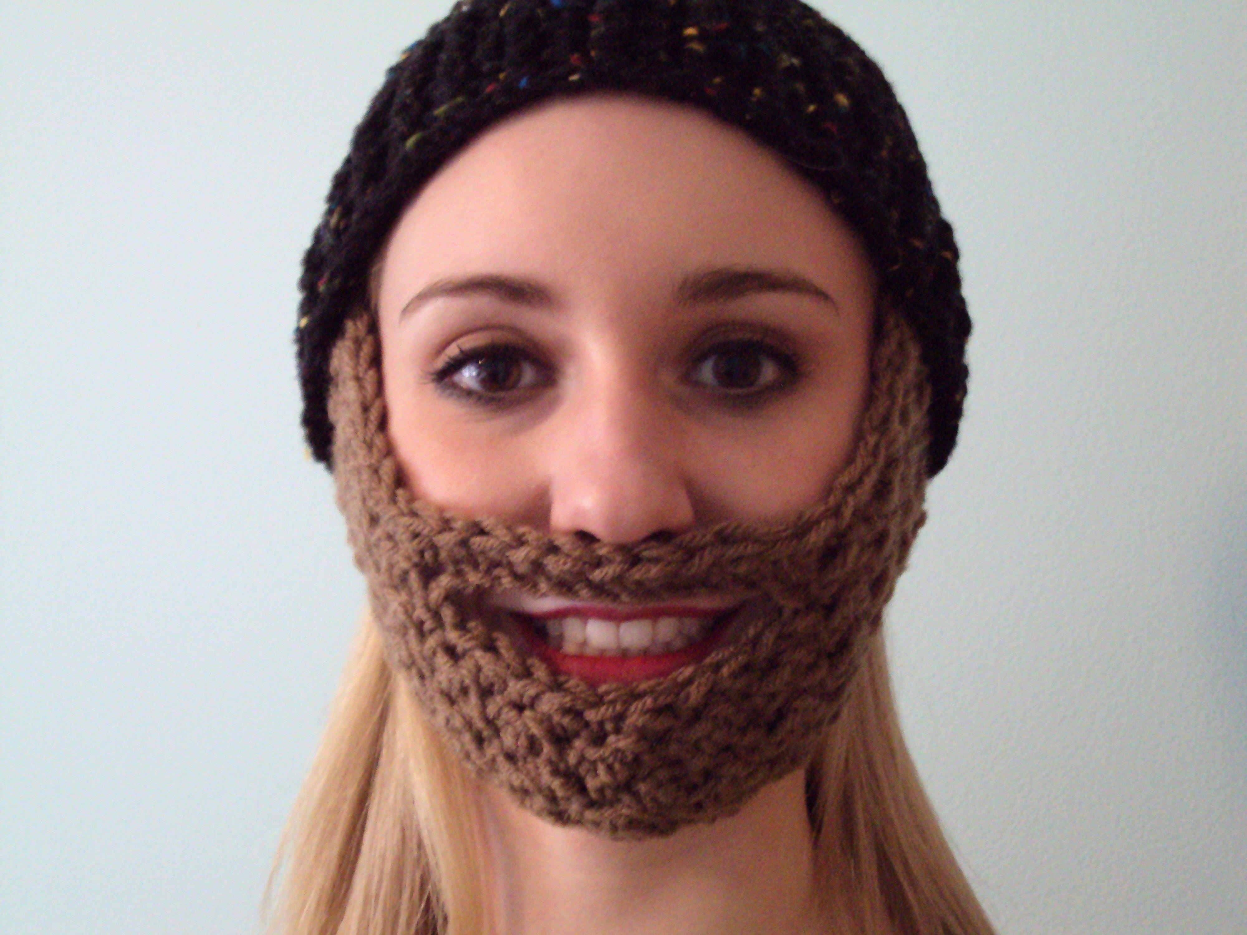 Free beard hat pattern crochet beard beard hat and crochet free beard hat pattern bankloansurffo Images