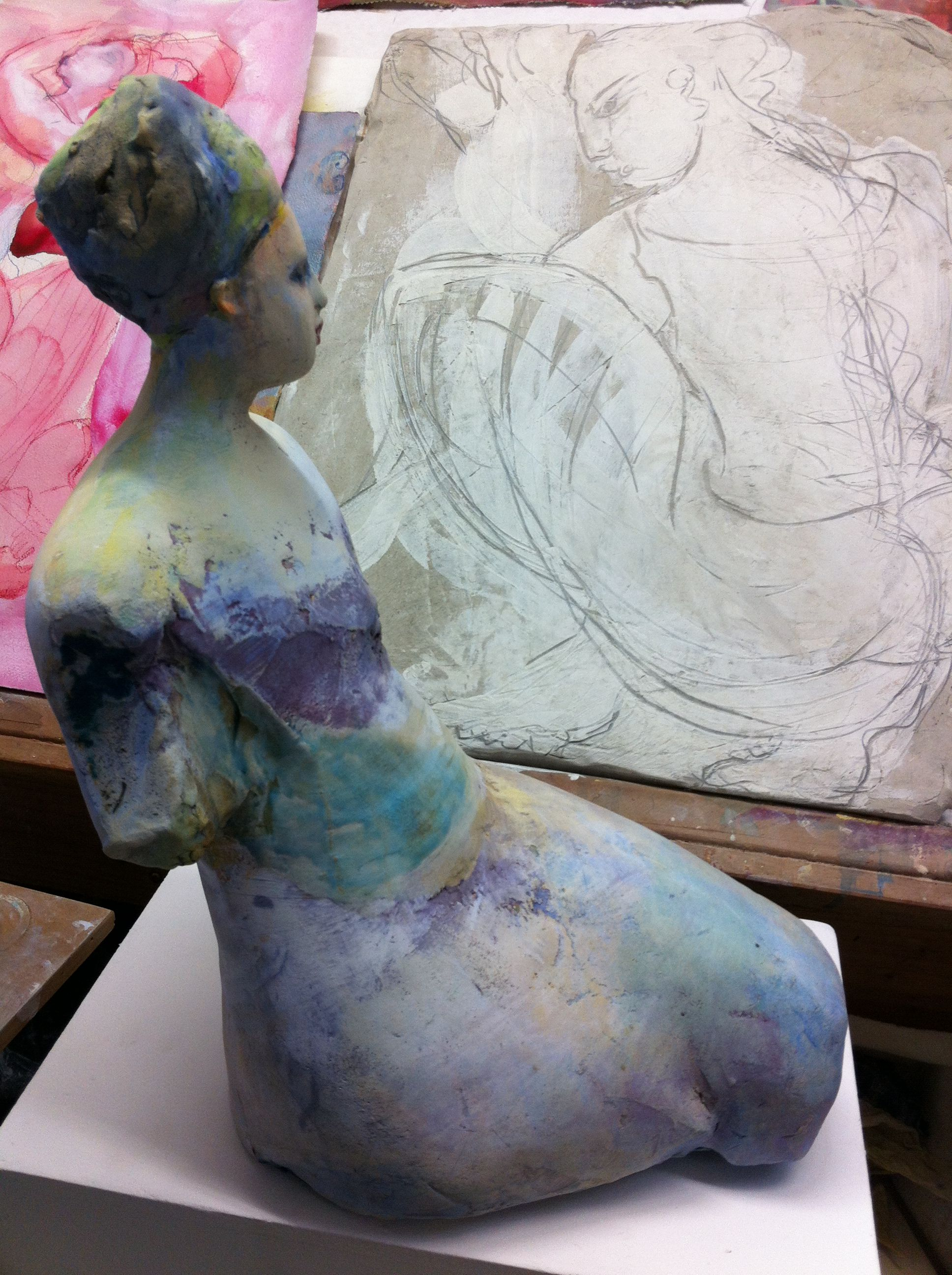 Michelle Gregor. Studio view, September 12, 2012.