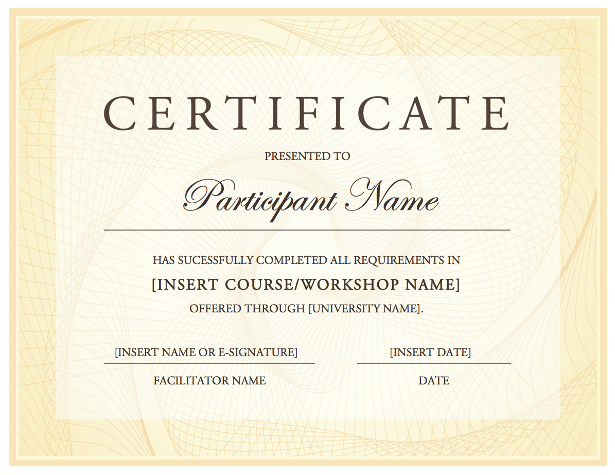 Certificate of completion generator canvas community certificate of completion generator canvas community yadclub Gallery
