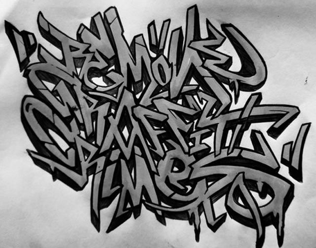 Graffiti Alphabets Turned Into Graffiti Art Many Styles