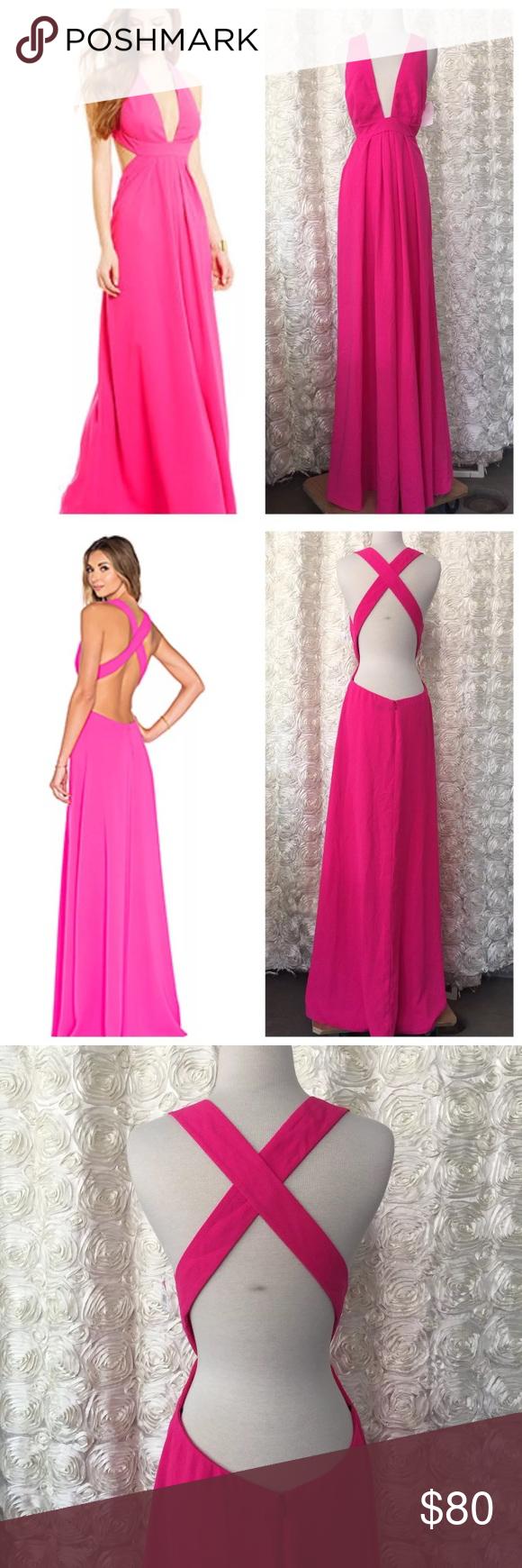 Hot pink homecoming dress  Jill Stuart Hot Pink formal dress size   My Posh Closet