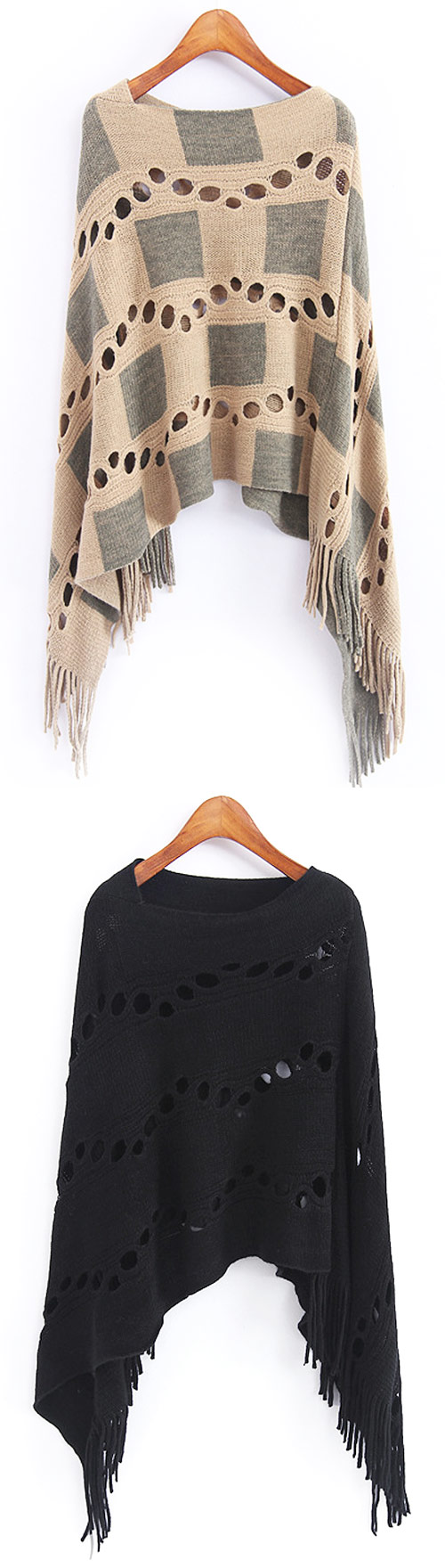 Your must-have chic scarf outfit is here! Free shipping to get it Now! It is detailed with tassel hem&hollow design! So warm&sassy at Cupshe.com