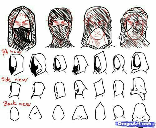 How To Draw A Hood Mask Text How To Draw Manga Anime With