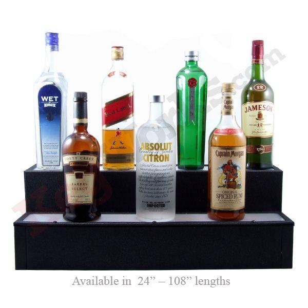 Liquor Bottle Shelves Lighted Display For Home Bar Or Restaurant