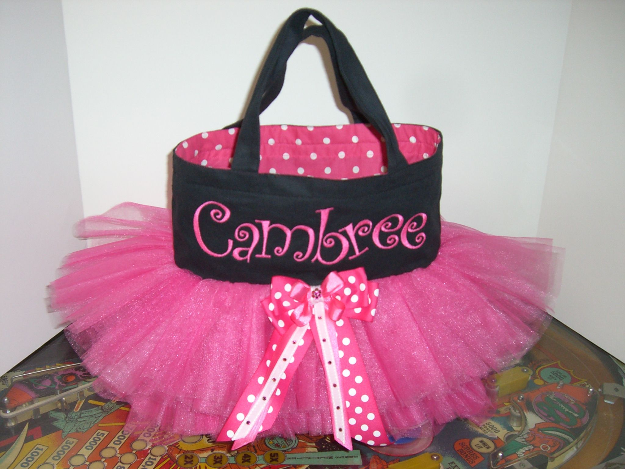 how to make a tulle tutu tote bag