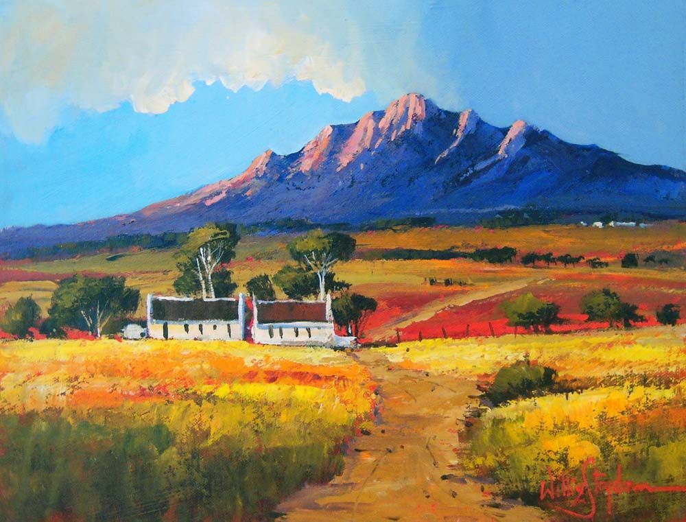 Pin by judy smit on art landscape bright colours in 2019