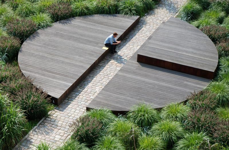Circle Form Pawel Grobelny Nowa Sienna Chwaliszewo Poznan Poland Landscape Plans Landscape Design Landscape Architecture