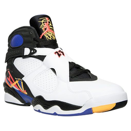 watch 4df11 2989f Men s Air Jordan Retro 8 Basketball Shoes - 305381 142   Finish Line