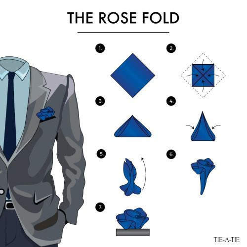 46bc974473dbf The rose handkerchief fold | Fabric & Fashion in men's lives... in ...
