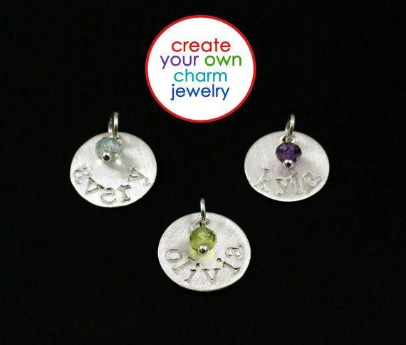 ADD CHARM  Birthstone Jewelry Name Charm by ACharmedImpression, $18.00