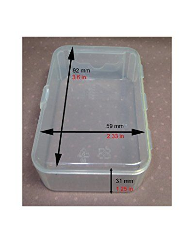Learn more about >> Maymom Small Plastic Field with Hinged Lid for Small Elements, Crafts, Beads, Jewellery and Watch Elements (6 bins, Clear)