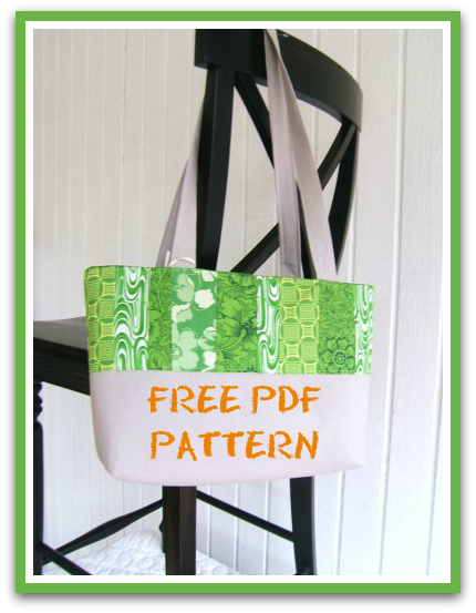 Easy Quilted Tote – PDF Sewing Pattern + Jelly Roll Fabric for ...