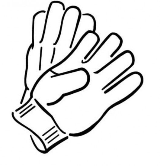 Winter Gloves Gloves Winter Coloring Pages Free Clip Art
