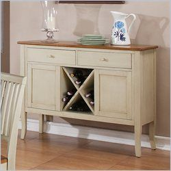 Steve Silver Company Candice Server In Oak And Off White SideboardSilver