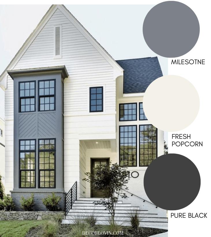 Modern Exterior Paint Colors #greyexteriorhousecolors