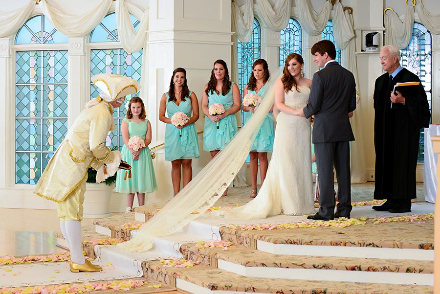 Major Domo Presented The Wedding Rings At Amy And Blake S Lavish Ceremony In Disney Pavilion