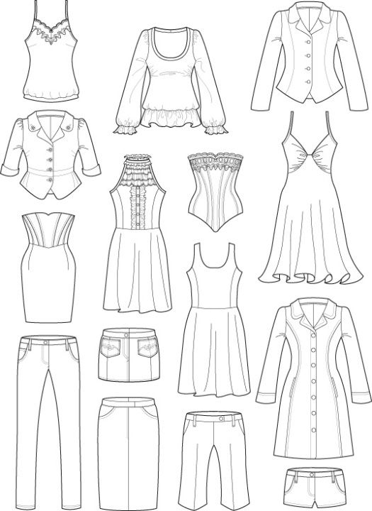 19 1 16 Week 3 Drawing Fashion Flats Fashion Design Template Fashion Design Sketches Fashion Illustration