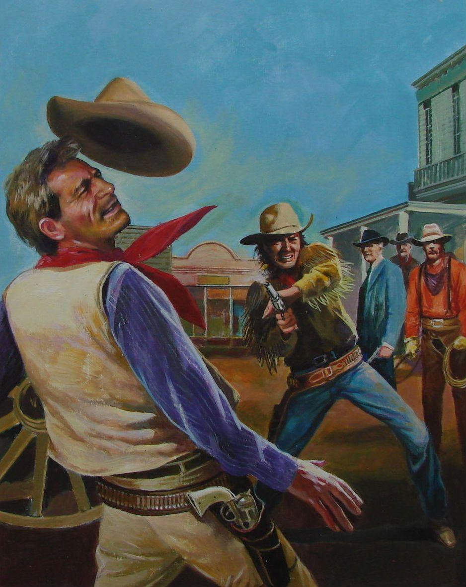 Titelbild für Westernroman Zeichner Domingo | Cowboy art