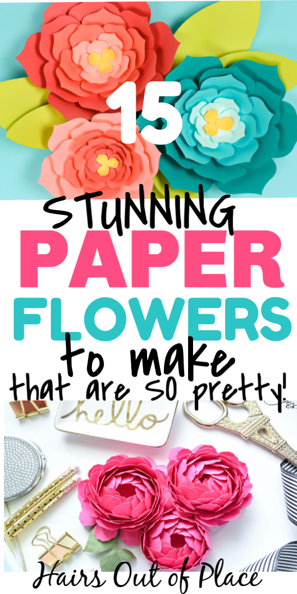 15 DIY Paper Flowers to Make
