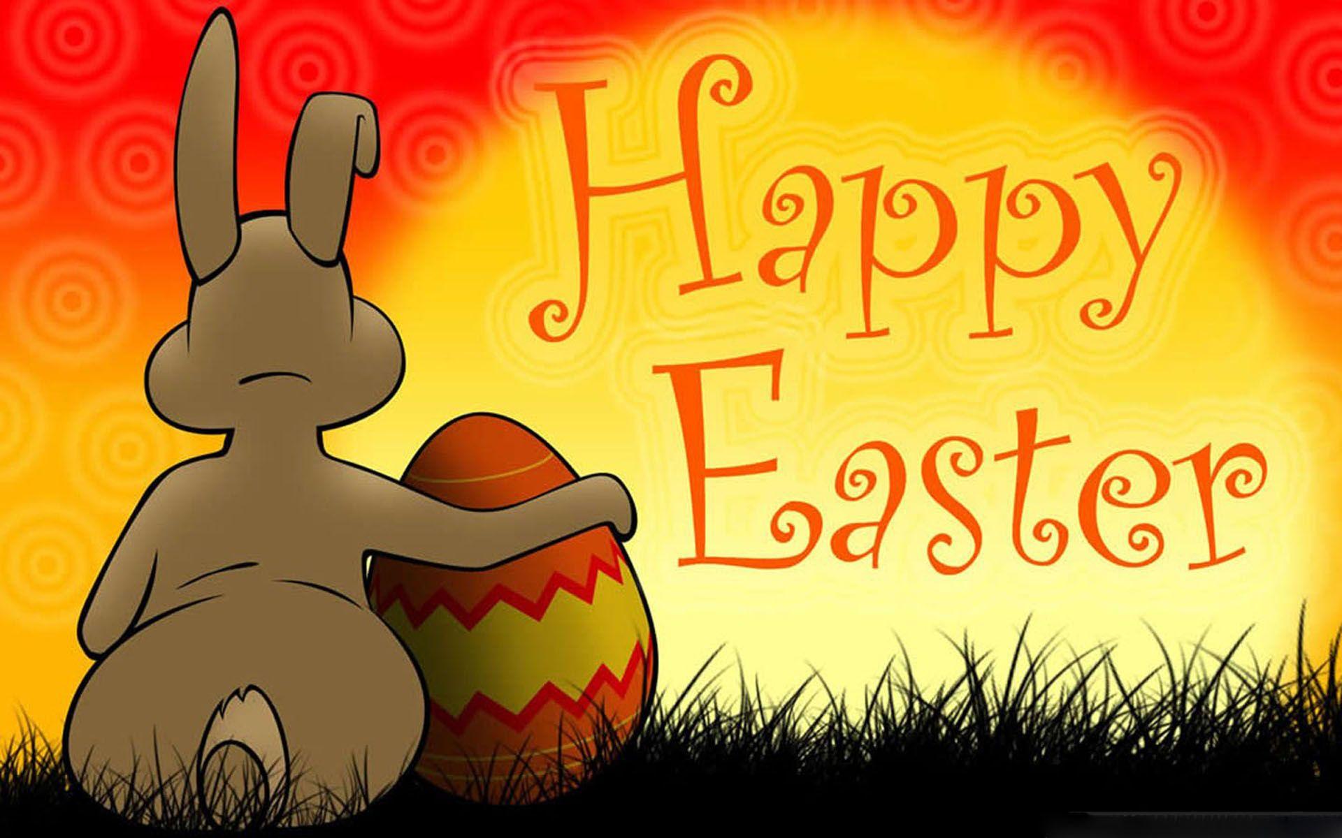 Happy Easter Bunny Hug Egg Wallpapers 1920x1200
