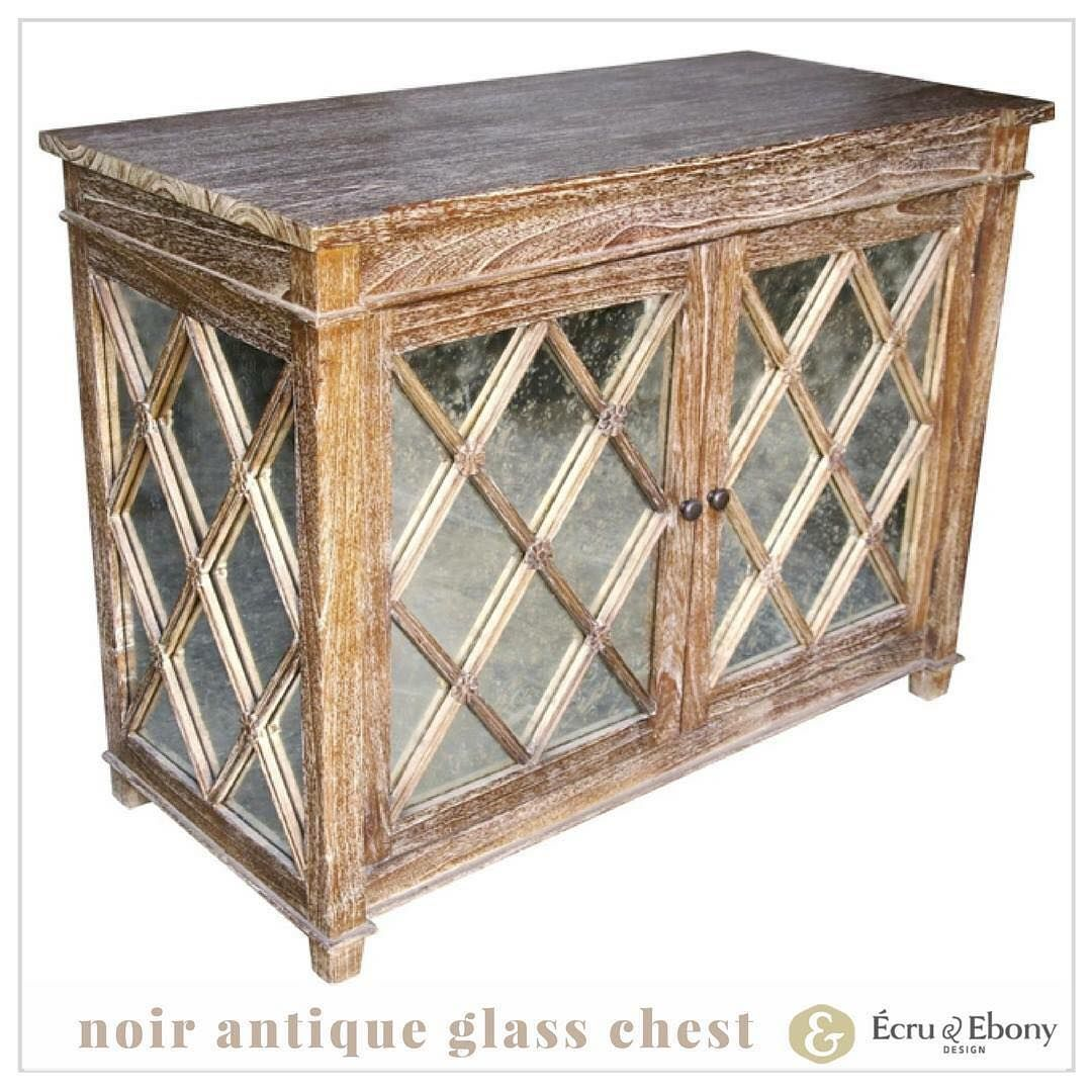 The Antique Glass Chest Makes An Elegant Statement In Any