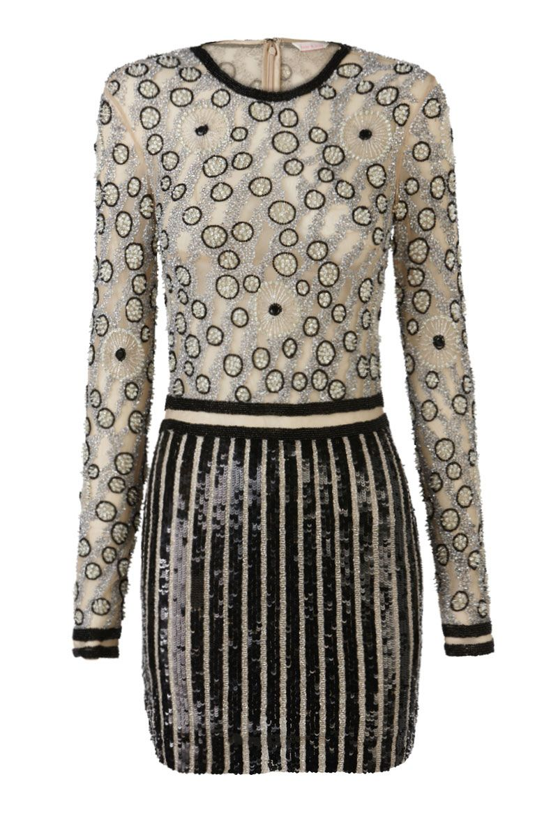 Sass Bide Extraordinary Measures Embellished Tulle Dress Black And Silver Dress Clothes Design