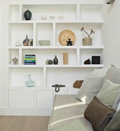 Gorgeous Built Ins Different Heights And Asymmetric Built In