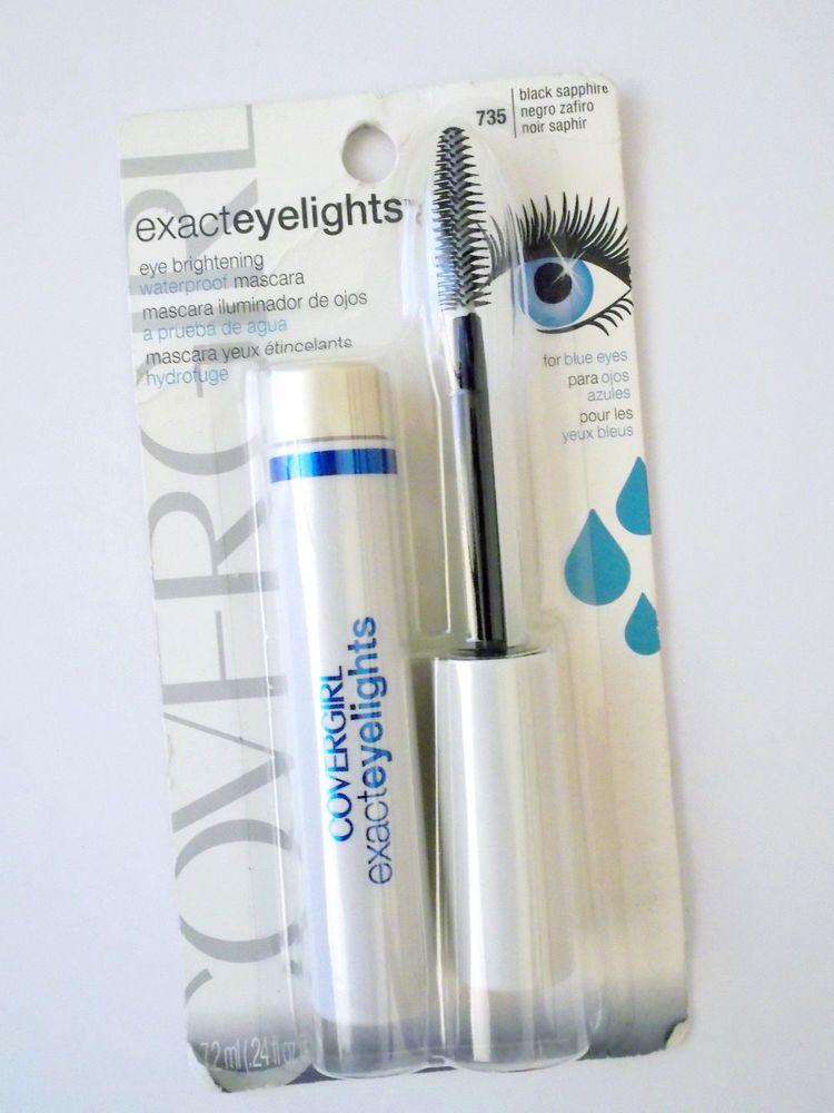 6a4ebfef232 CoverGirl Exact Eyelights Waterproof Mascara Black Sapphire For Blue Eyes  #735 #COVERGIRL
