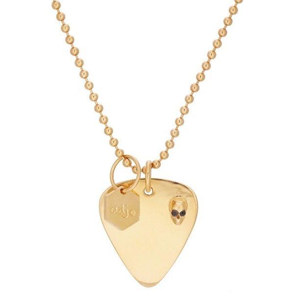 Ann Dexter-Jones Design Womens Guitar-Pick-Pendant Necklace I81QVhqP08