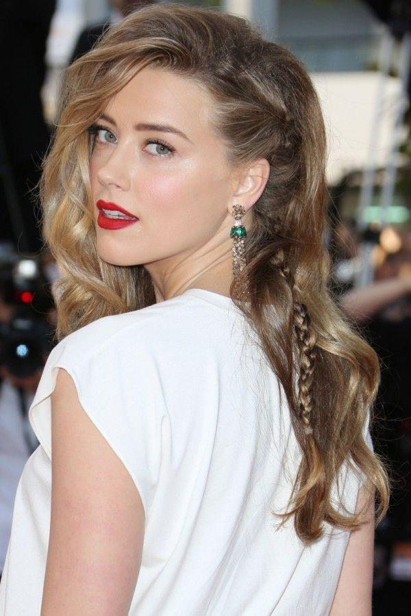 Red Carpet Hairstyles soft bun with curlsjpg 2 Amber Heard With Plaits In Her Tousled Red Carpet Hair