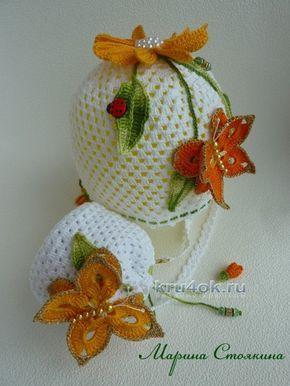 0f2122476a76 Сумочка и шапочка для девочки - работы Марины Стоякиной вязание и схемы  вязания