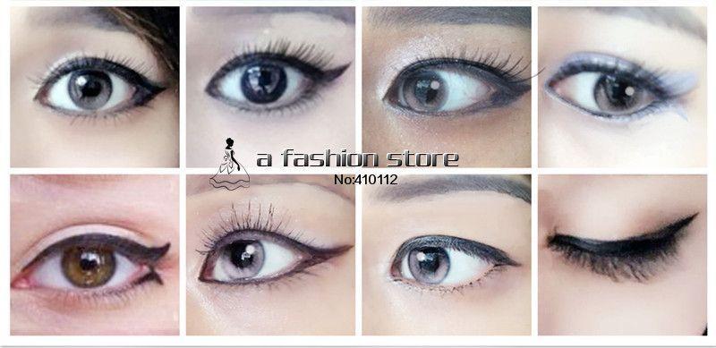 7 Style In 1 Set Quick Makeup Cat Eyeliner Smokey Eyeshadow Reusable