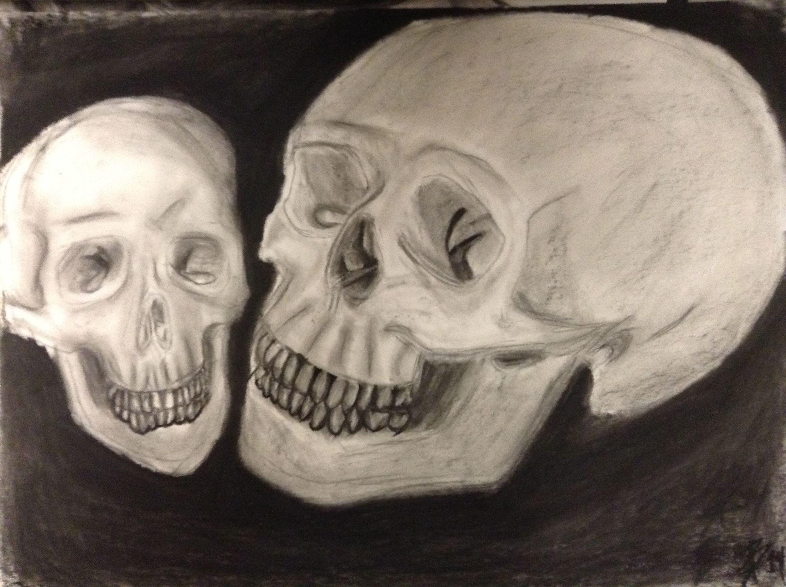 A pair of skulls.