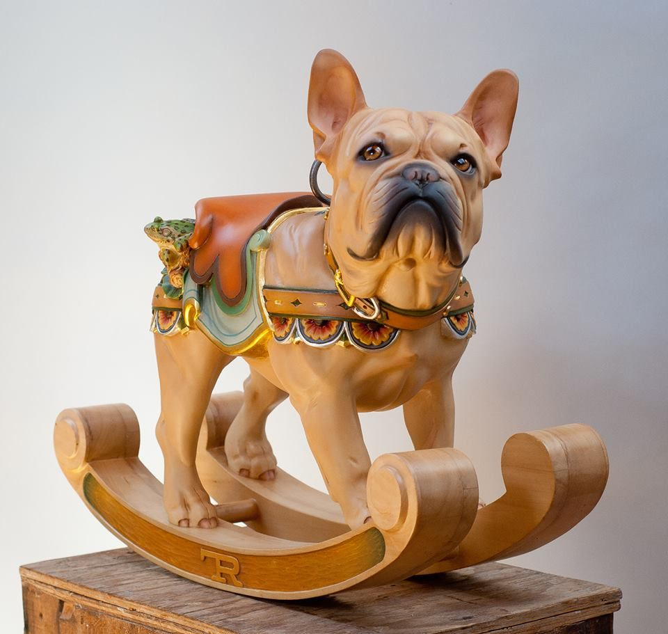 artist tim racer the frog dog- ;) | tim racer - carousel carvings