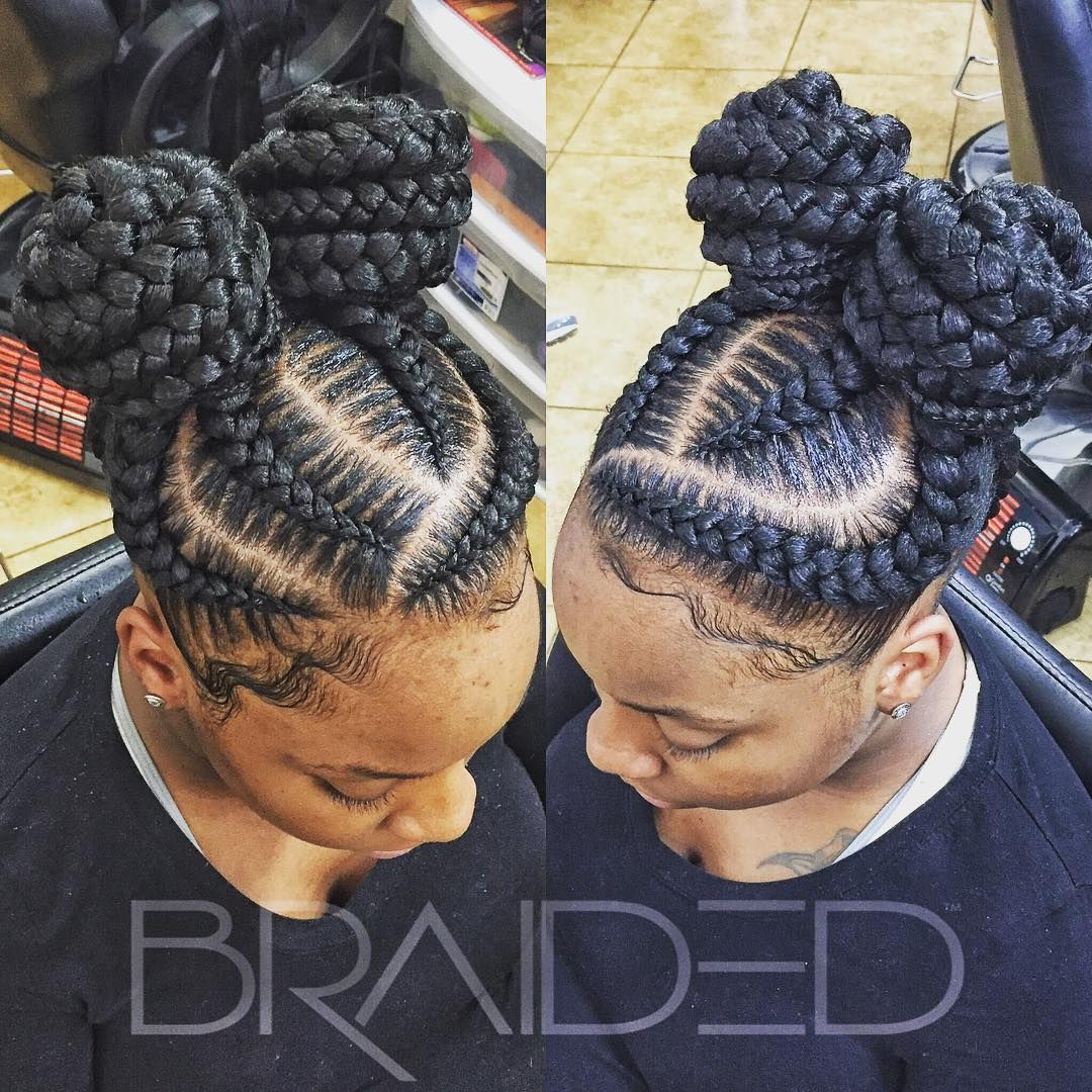2 Knotted Up Cornrows Braided Hairstyles Kids Braided Hairstyles Feed In Braid