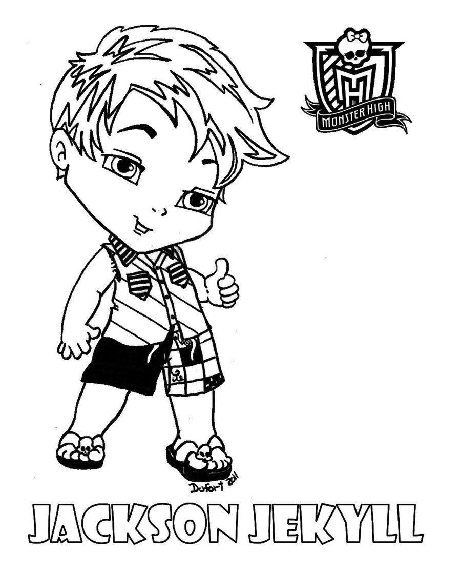 Monster High Baby Coloring Pages Baby Jackson By Jadedragonne