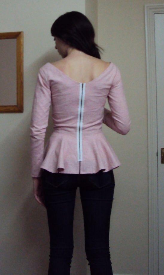 Elisalex hack-pink peplum top by Anna Stavrinides | | Craftin ...