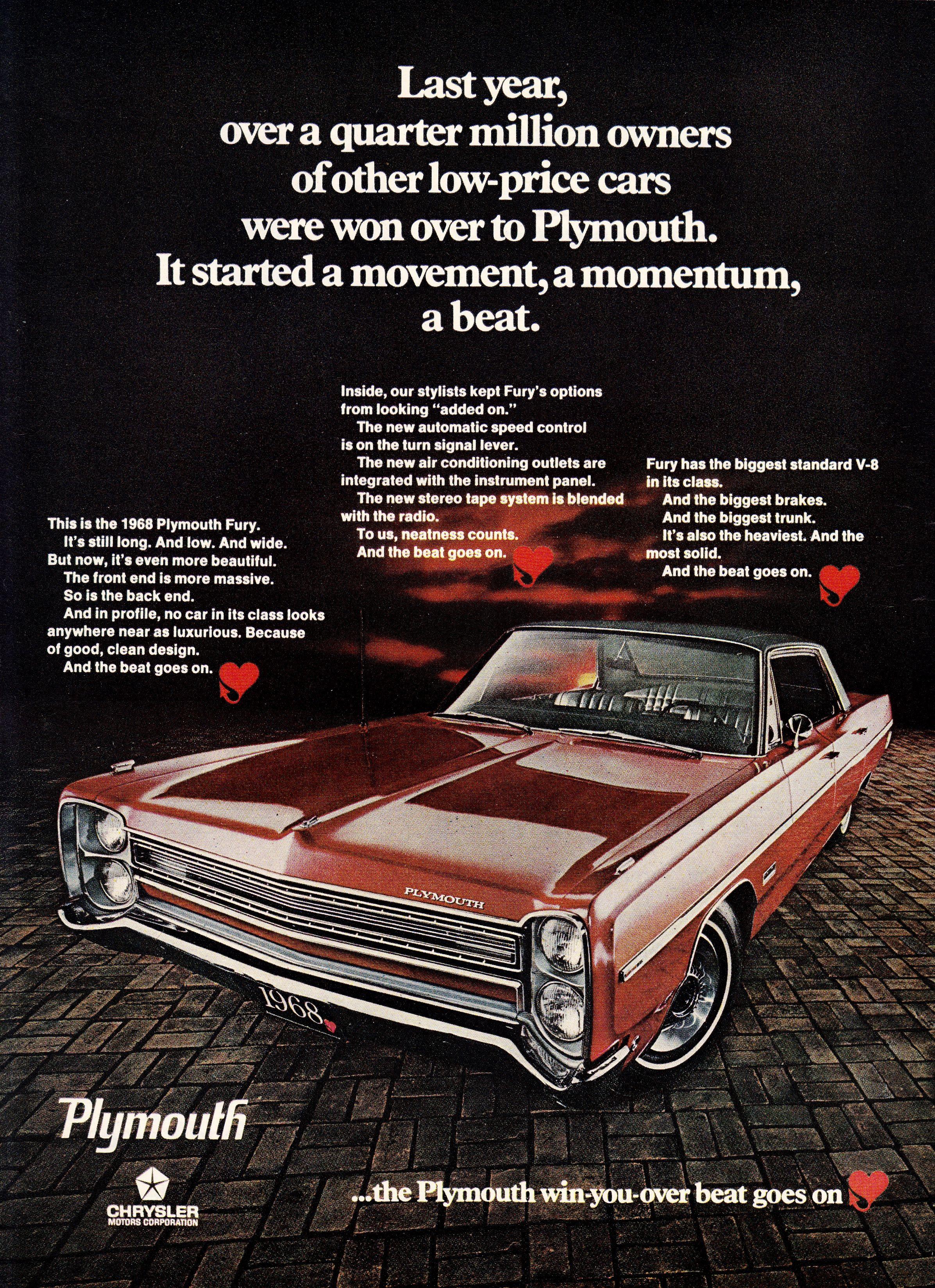 1968 Plymouth Fury Plymouth Fury Car Ads Plymouth