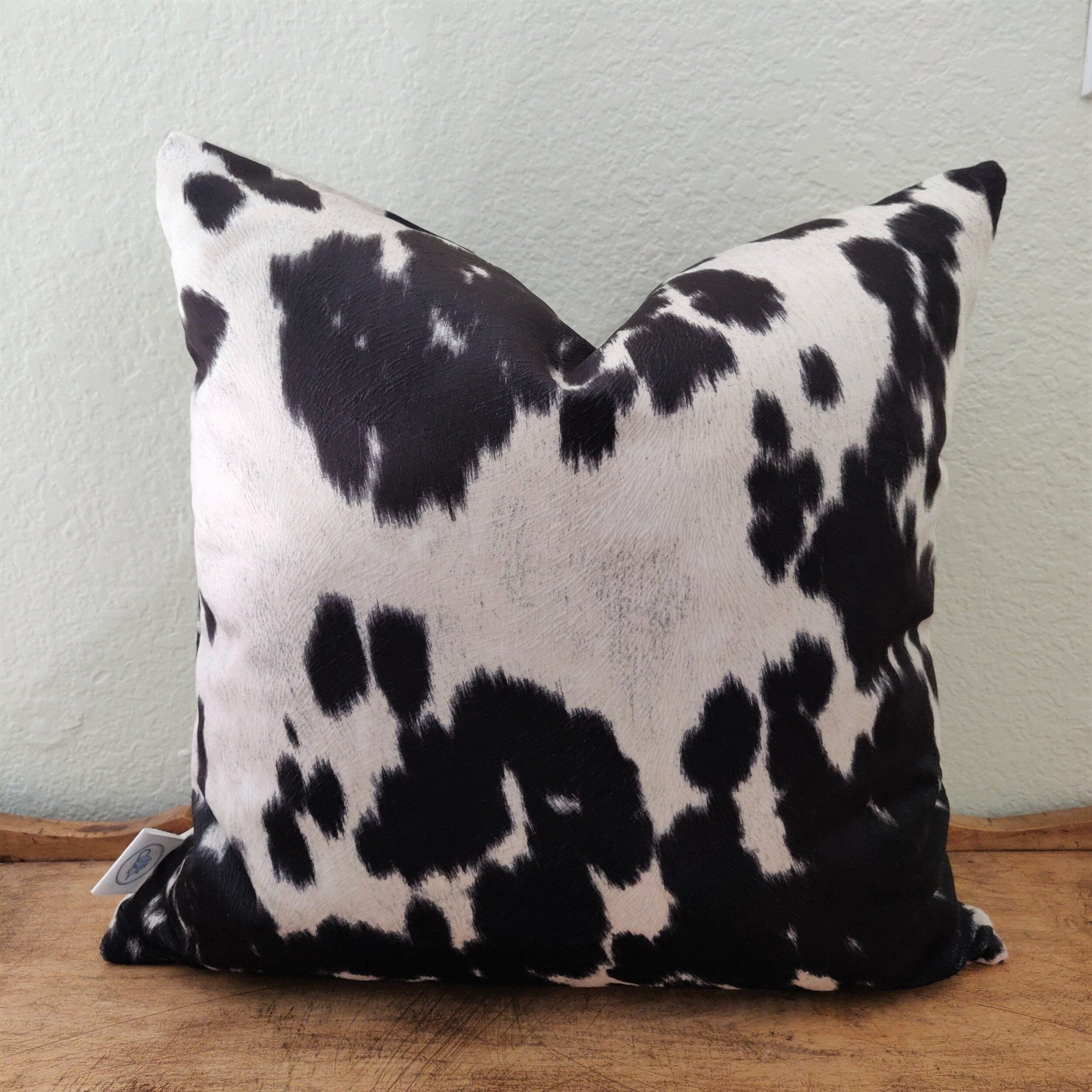 White Cow Print Throw Pillow Case
