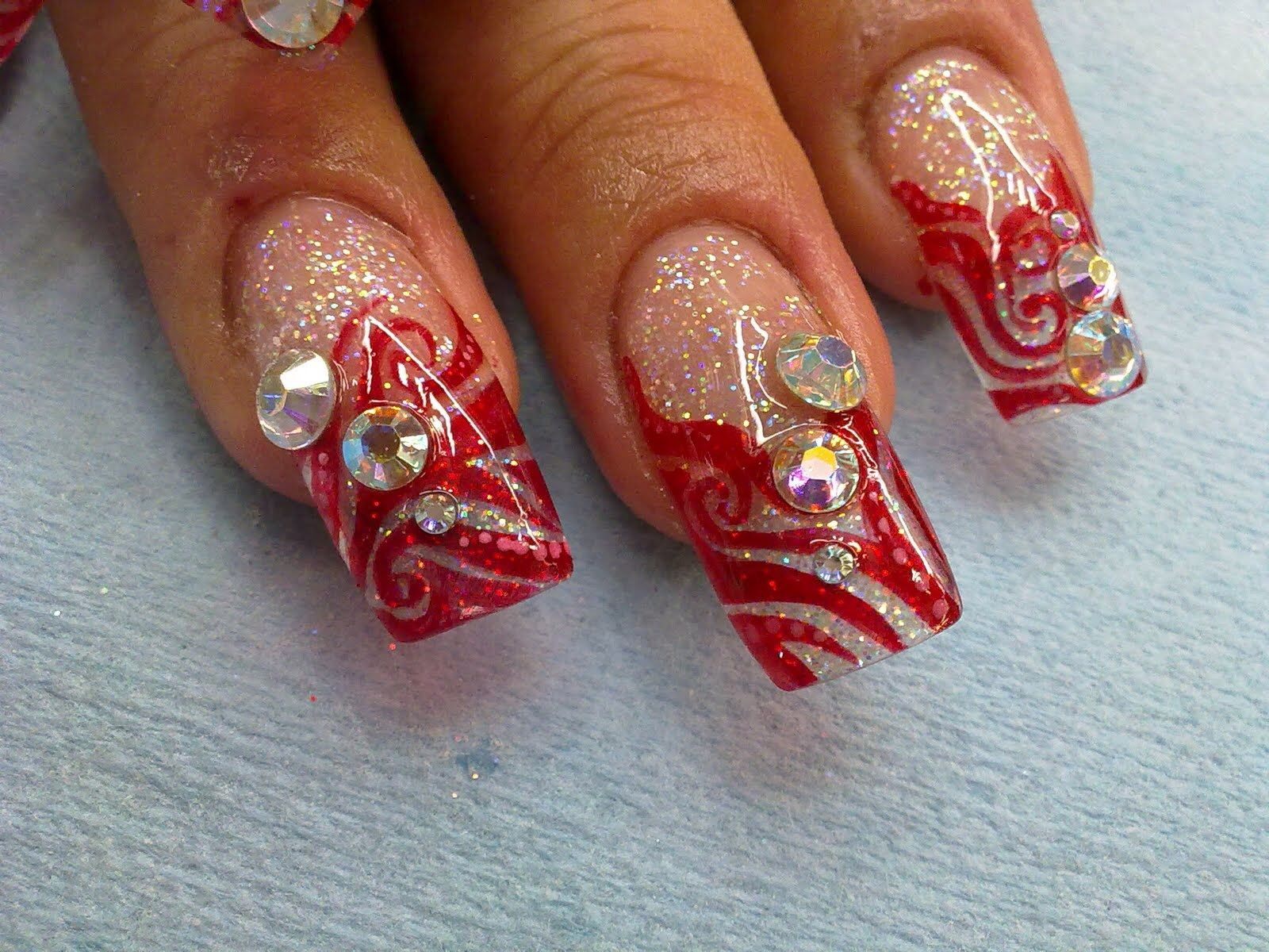 Get your red on for the holidays | acrylic nails, gel, acrylic ...