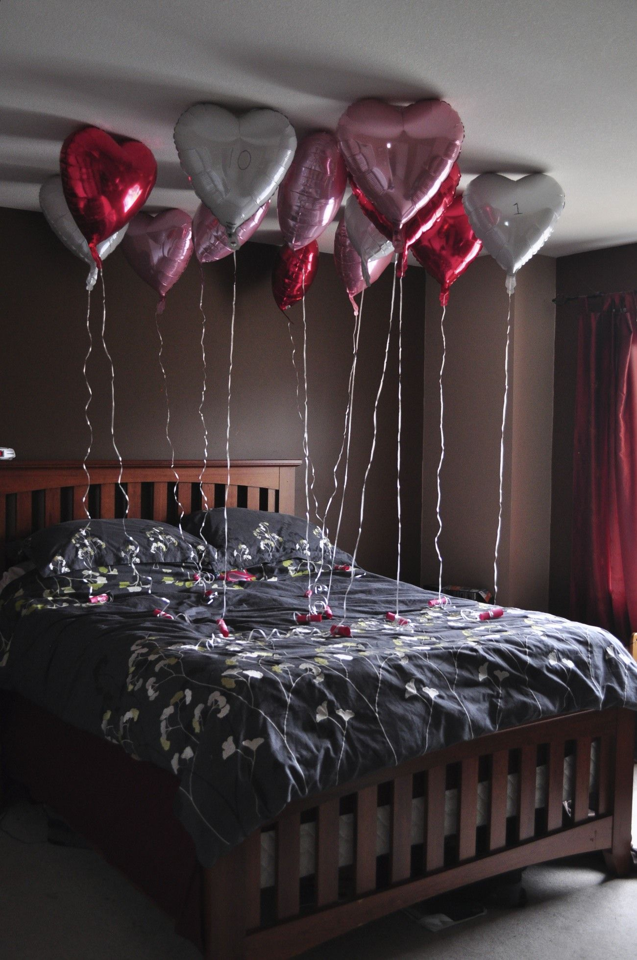 Anniversary surprise one balloon for each year of marriage and  little memory poem also adam evela adamevela on pinterest rh