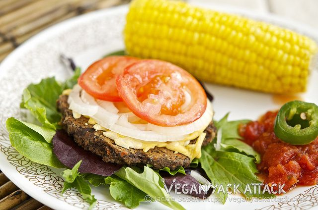 Black Bean Party Burgers #vegan