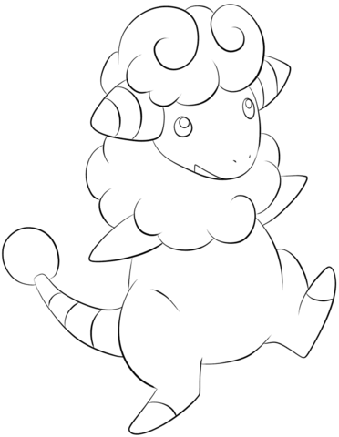 Click To See Printable Version Of Flaaffy Coloring Page Pokemon Coloring Pages Coloring Pages Pokemon Coloring