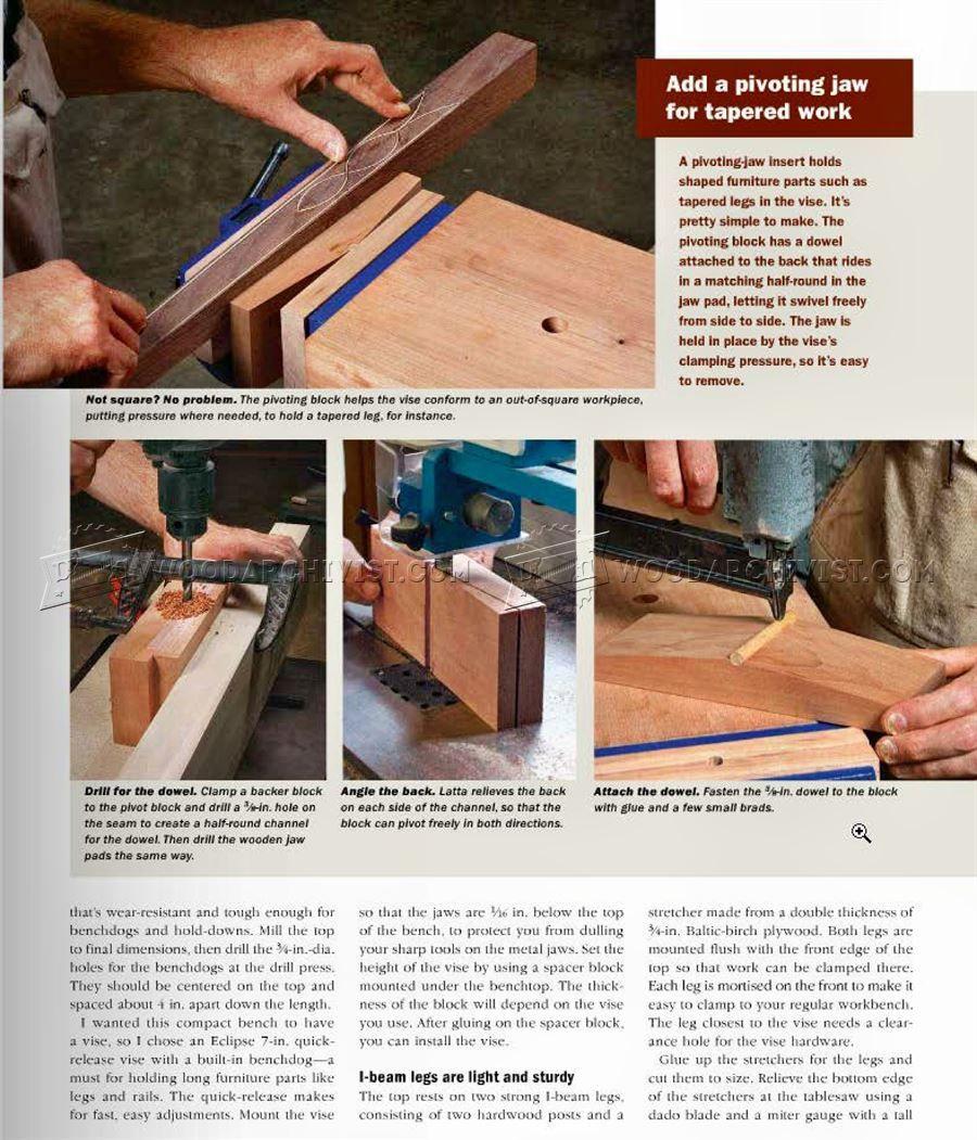 Tremendous 2390 Mini Workbench Plans Workshop Solutions Woodworking Lamtechconsult Wood Chair Design Ideas Lamtechconsultcom